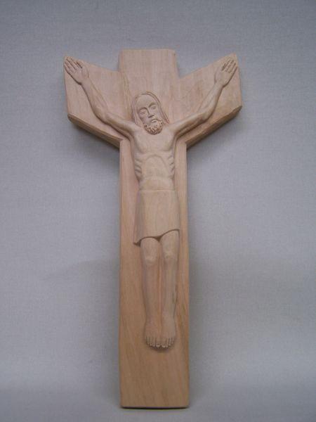 Christus im Kreuz Lindenholz natur