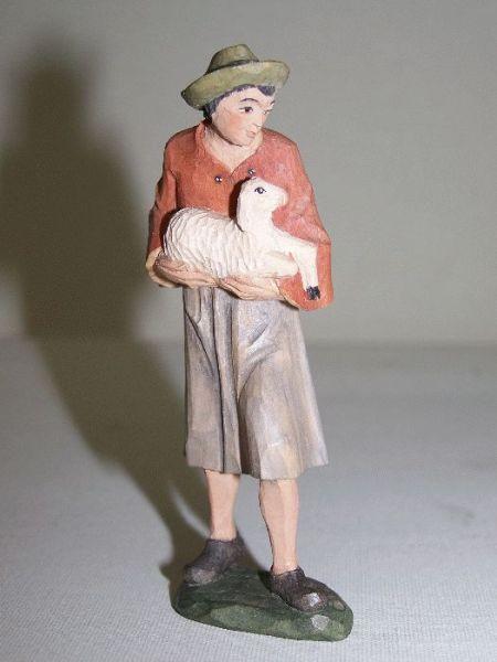 Hirte 2 mit Schaf Weymouthskiefer lasiert