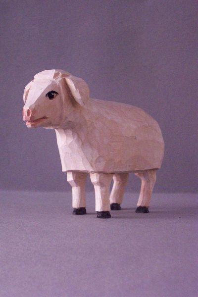 Schaf stehend, Kinderkrippe Linde lasiert