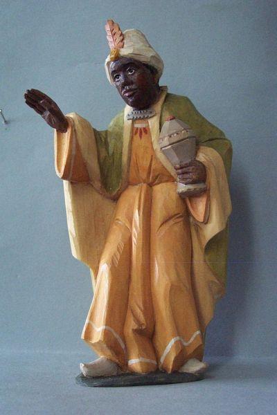 König 3 Kaspar stehend (Mohr) Weymouthskiefer lasiert