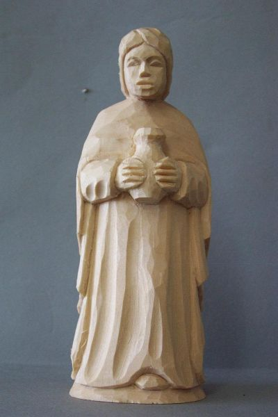 König 3 Kaspar stehend (Mohr) Kinderkrippe Linde natur