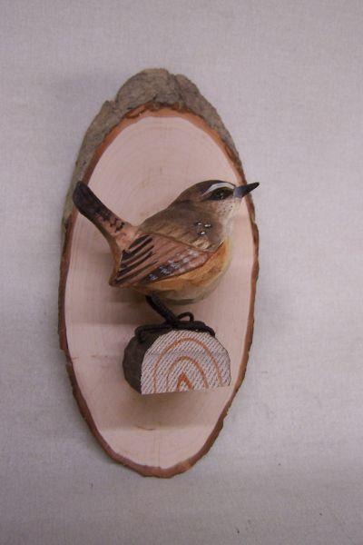 Astscheibe Vogel Wandmontage