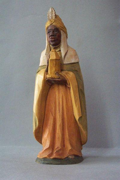 König 3 Kaspar stehend (Mohr), Weymouthskiefer lasiert