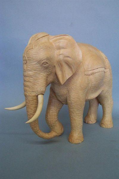 Elefant 2 mit Decke, Linde detailliert natur