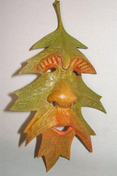 Spitzahorn orange-grün Masken Unikat