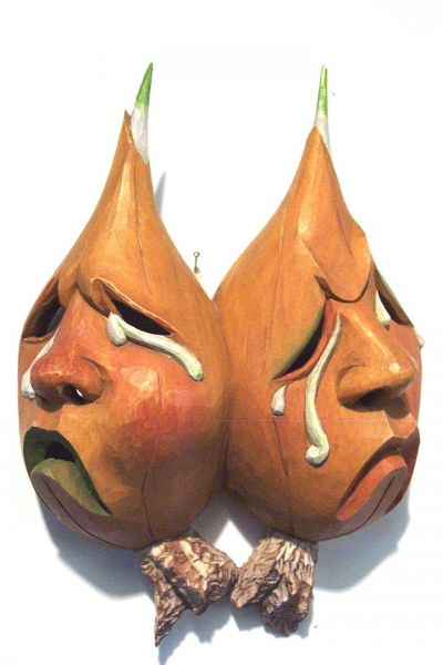 Zwiebel-Doppel Masken Unikat