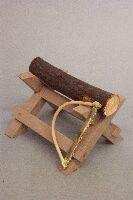 Holzbock mit Säge