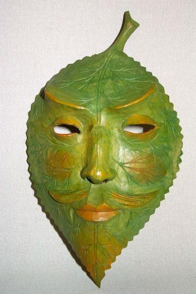 Lindenblatt grün Masken Unikat