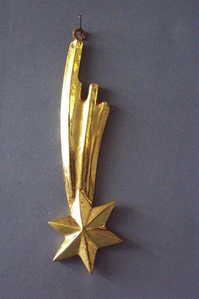 Stern echt vergoldet für Jahres-Krippenlaterne