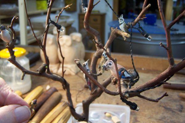Minivögel-Baum