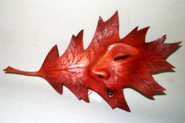Spitzahorn rot Masken Unikat