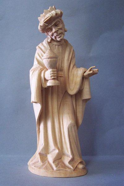König 3 Kaspar stehend (Mohr) Linde detailliert natur