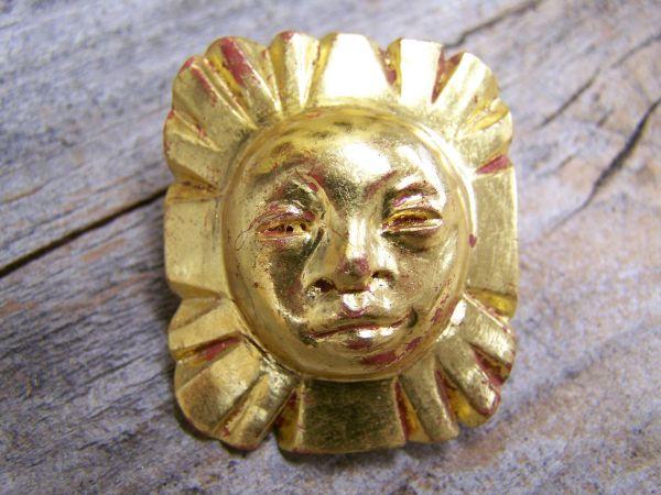 'Sonne 3' Brosche & Anhänger