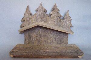 Altholzstall Bayerwald Für Figuren 13 - 16 cm