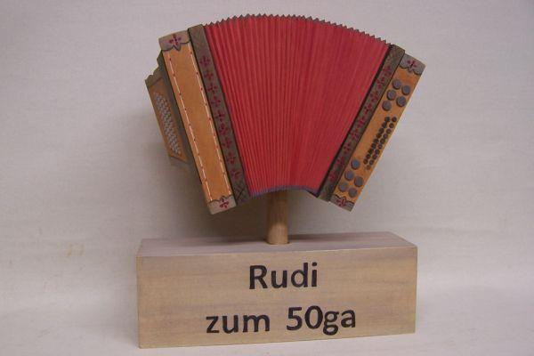 Steirische Harmonika lasiert