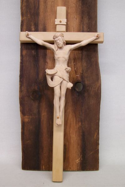 Kreuz mit Korpus 24cm Natur 2
