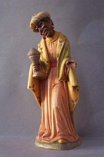 König 3 Kaspar stehend (Mohr) Linde detailliert lasiert