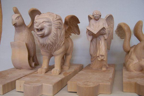 Geflügelte Tiere der vier Evangelisten