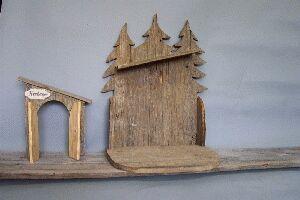 Krippenstall Altholz Für Figurengröße 22 cm
