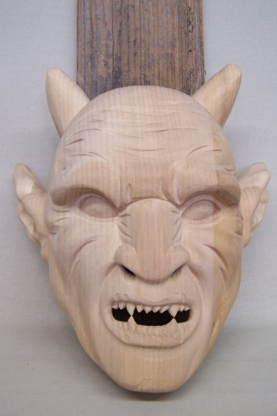Perchtenmaske Ork