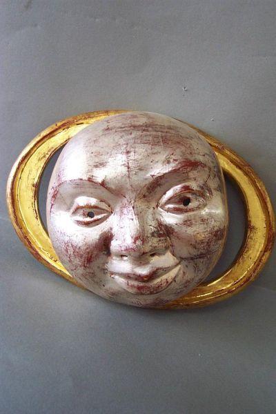 Mond mit Hof Maske Unikat