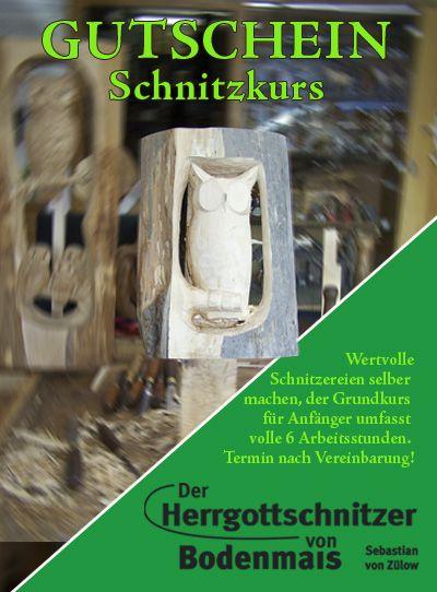 Gutschein Schnitzkurs