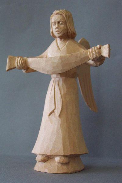 Engel mit Schriftband, Kinderkrippe Linde natur