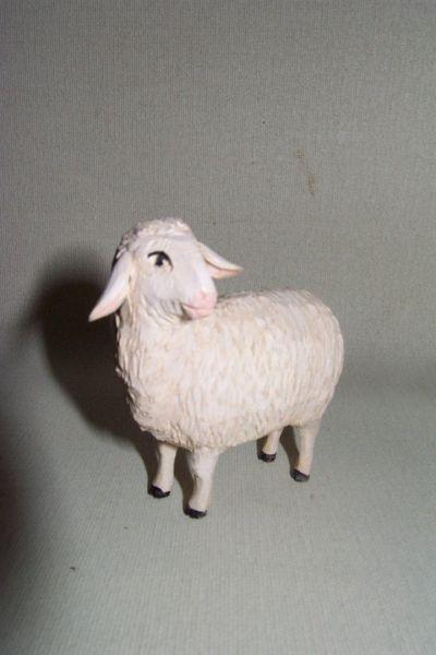 Schaf 1 stehend, Weymouthskiefer lasiert
