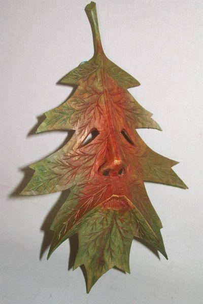 Spitzahorn grün-rot Masken Unikat