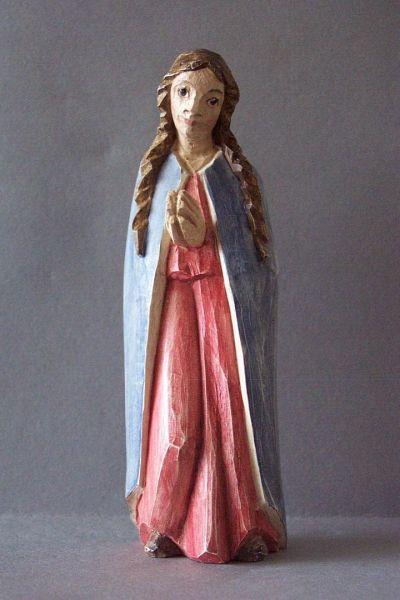 Maria kniend, Holzscheitlkrippe Unikat