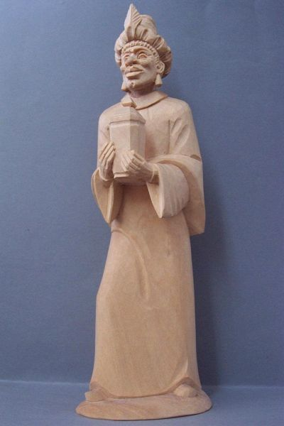 König 3 Kaspar sstehend (Mohr), Linde detailliert natur
