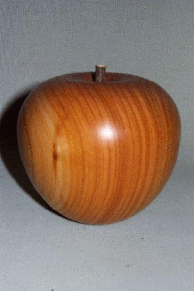 Holz Apfel Gedrechselt