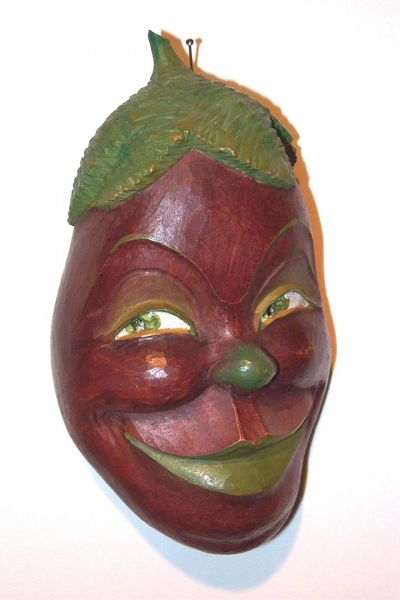 Aubergine Masken Unikat