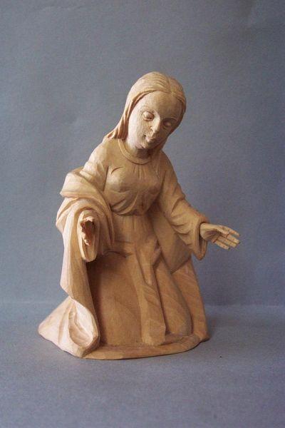 Maria kniend, Linde detailliert natur