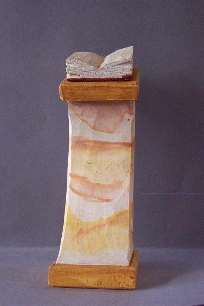 Stehpult mit Buch für Jahres-Krippenlaterne