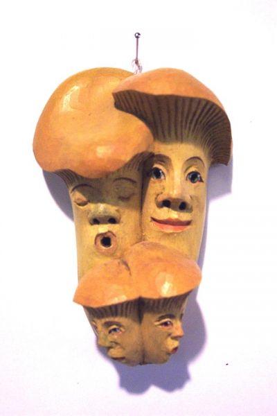 Pfifferling Familie Masken Unikat