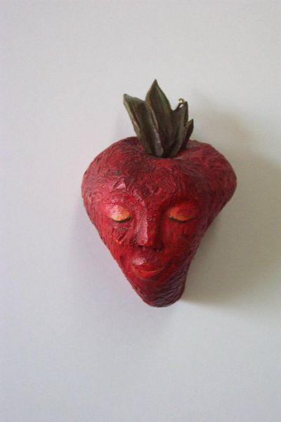 Erdbeere Masken Unikat