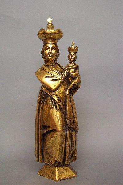 Böhmische Madonna vergoldet