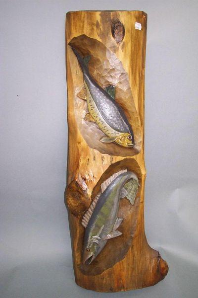 Fische Lindenholz lasiert