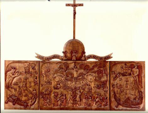 Altarrelief mit Flügel